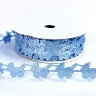 Лента голубые коляски 18 мм