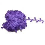 Лента листочки фиолетовые