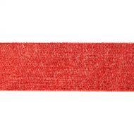 Лента металлизированная красная 38 мм