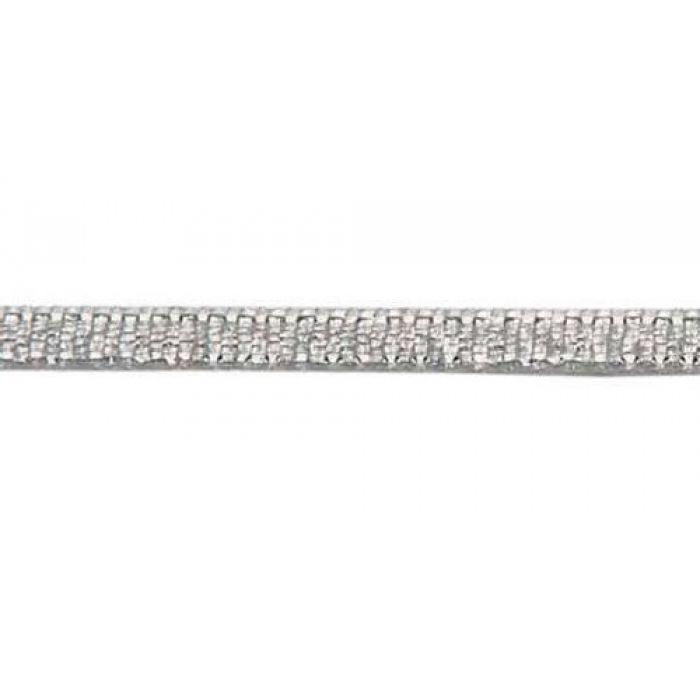 Лента металлизированная серебряная 3 мм для скрапбукинга