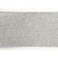 Лента металлизированная серебряная 38 мм