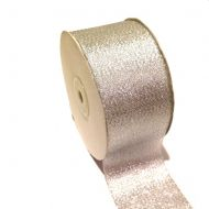 Лента металлизированная серебряная 50 мм