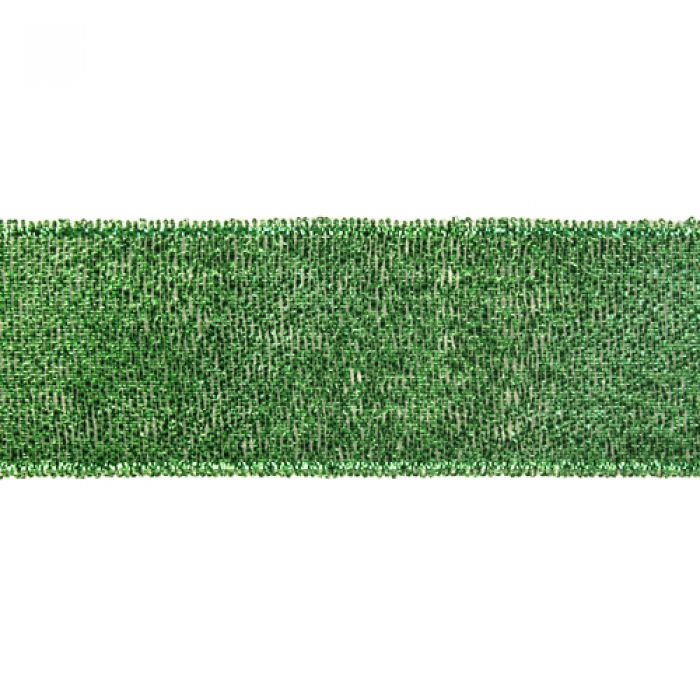 Лента металлизированная зелёная 38 мм для скрапбукинга