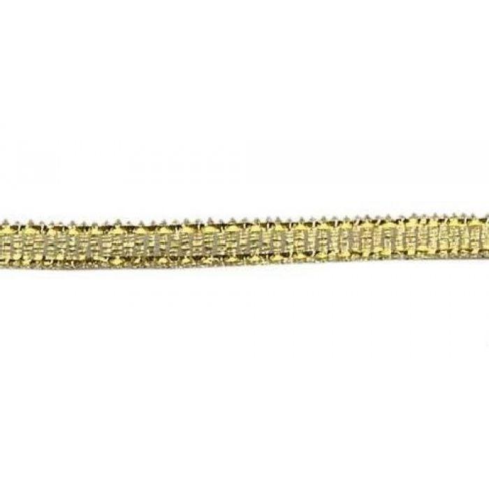 Лента металлизированная золотая 3 мм для скрапбукинга