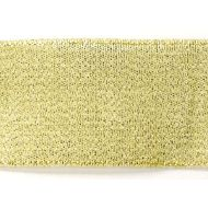 Лента металлизированная золотая 38 мм