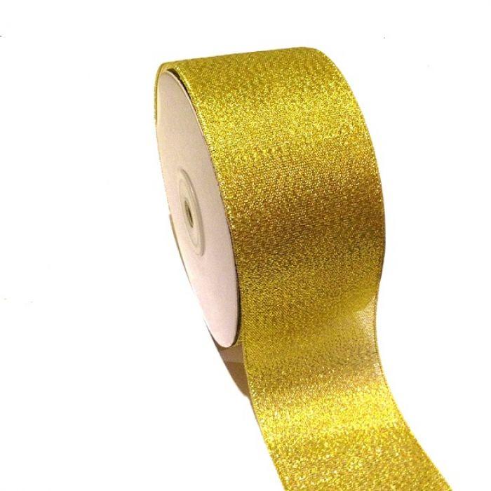 Лента металлизированная золотая 50 мм для скрапбукинга