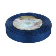 Лента репсовая тёмно-синяя 15 мм