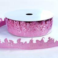 Лента розовая для малышки 20мм