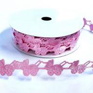 Лента розовые коляски 18 мм