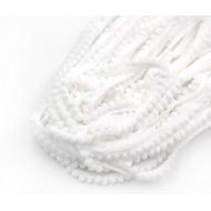 Лента с белыми помпонами