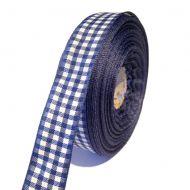 Лента шотландка сине-белая 15мм