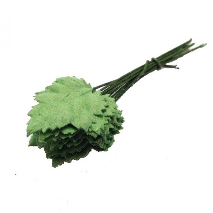 Листья зеленые 20 мм для скрапбукинга
