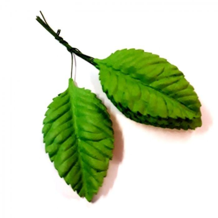 Листья зеленые 55 мм для скрапбукинга