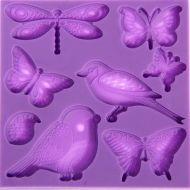 Молд цветы и бабочки
