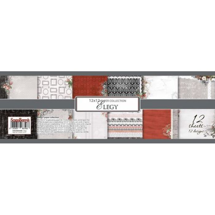 Набор бумаги элегия 30,5 х 30,5 см для скрапбукинга