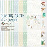 Набор бумаги Кролик Питер и его друзья (девочка) 30 х 30 см