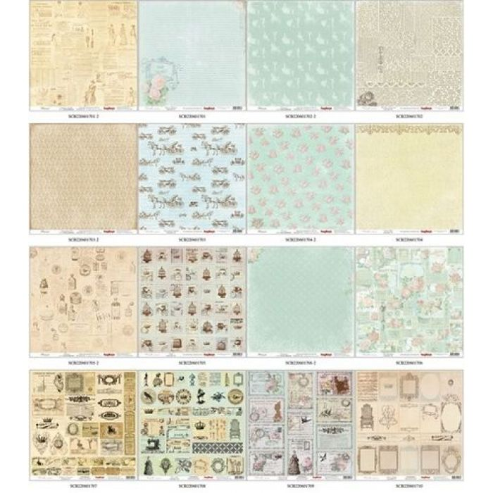 Набор бумаги Версаль 30,5 х 30,5 см для скрапбукинга