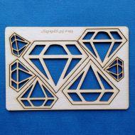 Набор чипборда бриллианты
