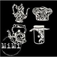 Набор чипборда чайники, коллекция кулинария
