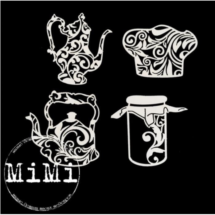 Набор чипборда чайники, коллекция кулинария для скрапбукинга