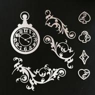 Набор чипборда часы
