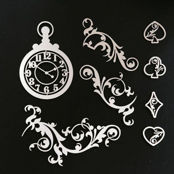 Набор чипборда часы для скрапбукинга