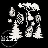 Набор чипборда деревья, коллекция природа
