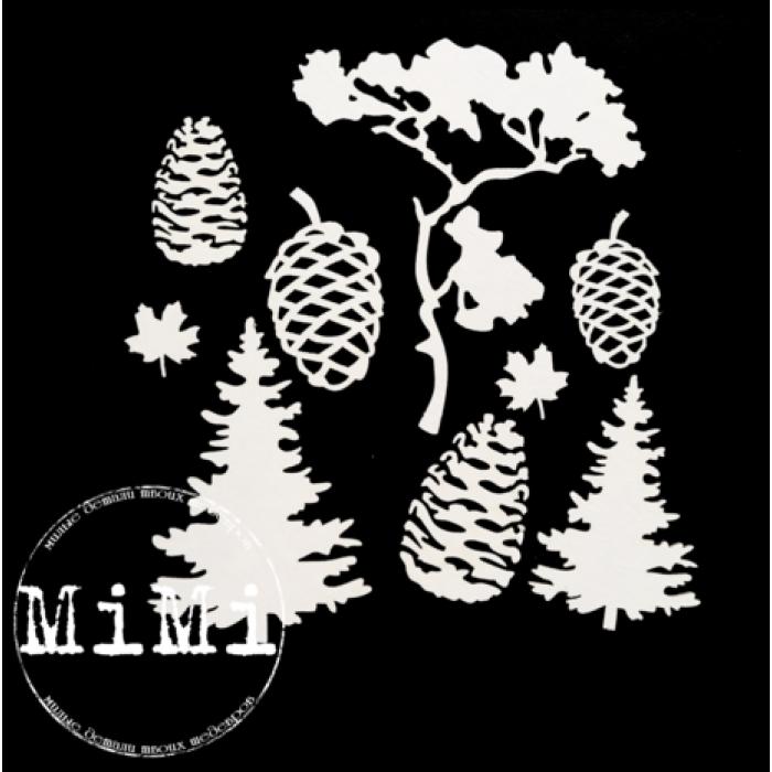 Набор чипборда деревья, коллекция природа для скрапбукинга