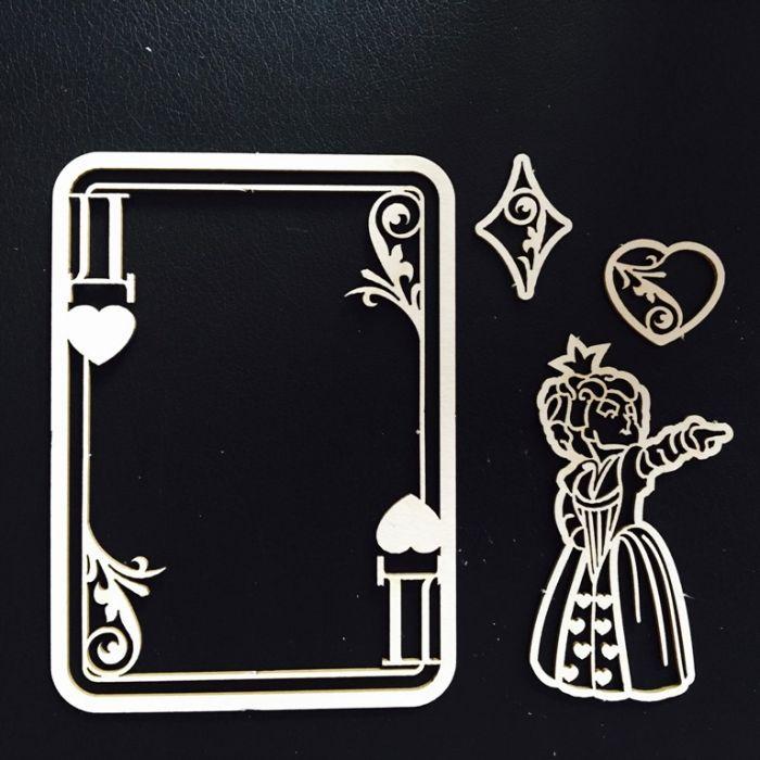 Набор чипборда королева для скрапбукинга