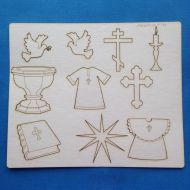 Набор чипборда Крещение