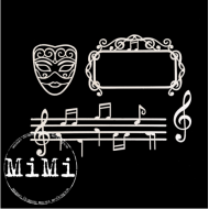 Набор чипборда мелодия, коллекция музыка