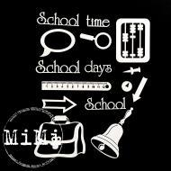 Набор чипборда портфель, коллекция школьная