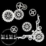 Набор чипборда шестеренки, коллекция механизмы