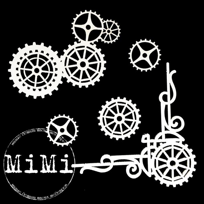 Набор чипборда шестеренки, коллекция механизмы для скрапбукинга
