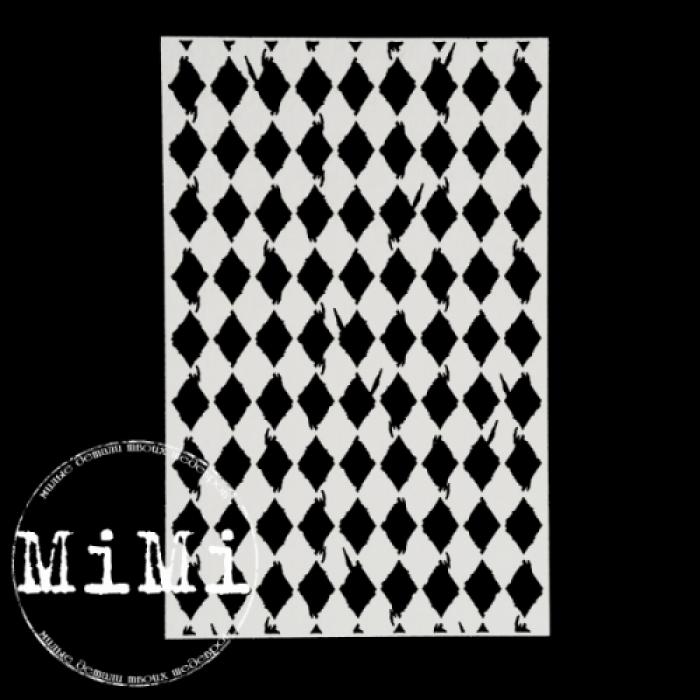 Чипборд винтажные ромбы, коллекция фоны для скрапбукинга