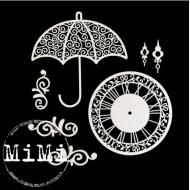 Набор чипборда зонтик, коллекция ретро