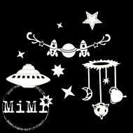 Набор чипборда звездное небо, коллекция космос