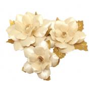 Набор цветов праздничных бежево-золотых