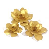 Набор цветов праздничных золотых