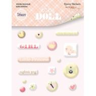 Набор эпоксидных наклеек Doll Baby