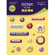Набор эпоксидных наклеек Ticket to the Moon