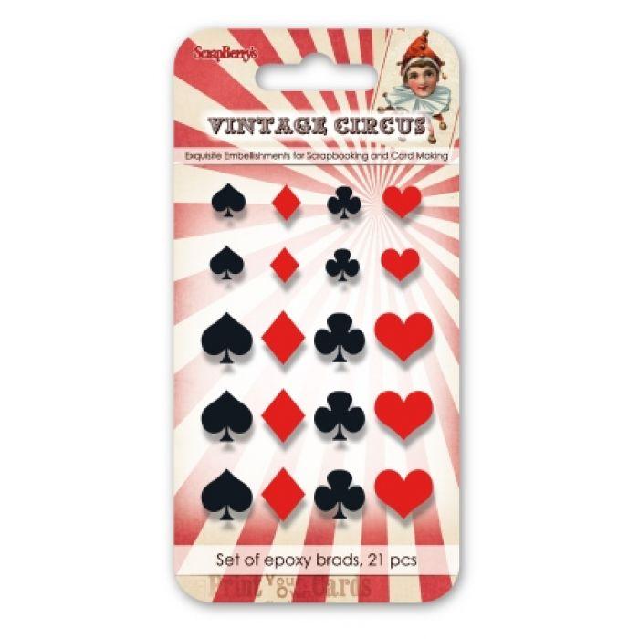 Набор эпоксидных стикеров винтажный цирк 1 для скрапбукинга