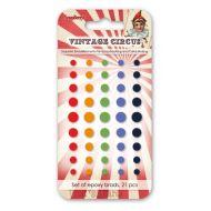 Набор эпоксидных стикеров винтажный цирк 2