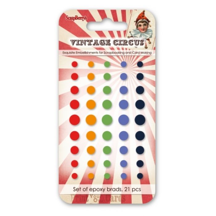Набор эпоксидных стикеров винтажный цирк 2 для скрапбукинга