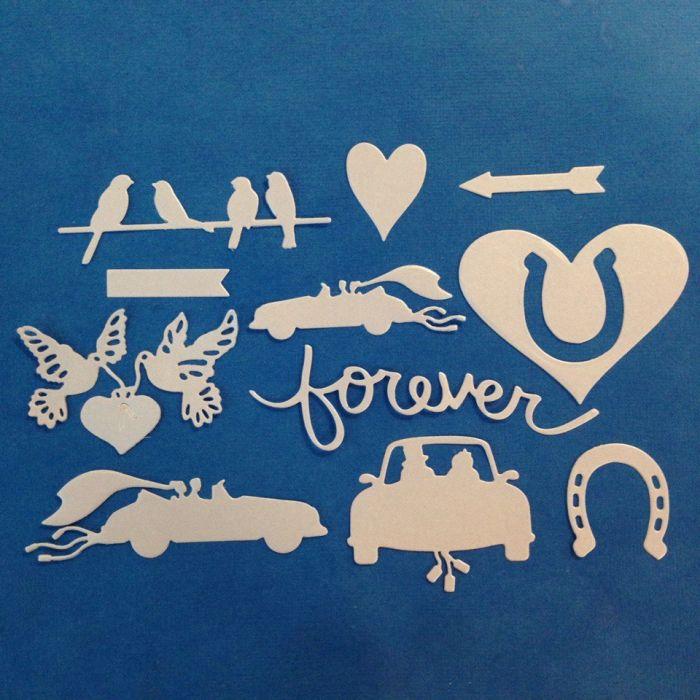Набор Forever, вырубка из перламутрового картона для скрапбукинга