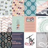 Набор карточек, коллекция тепло и уютно