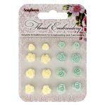 Набор объемных цветочков цветочная вышивка 3
