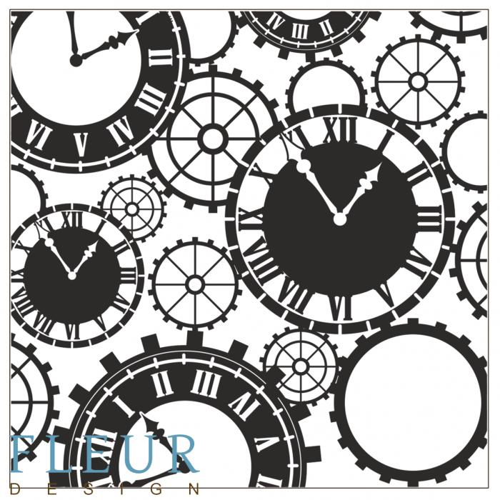Набор штампов часы для скрапбукинга