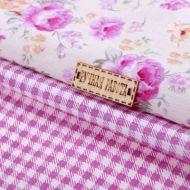 Набор ткани этюд в лиловых тонах 50 х 50 см