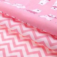 Набор ткани приключения на Северном полюсе розовый 50 х 50 см